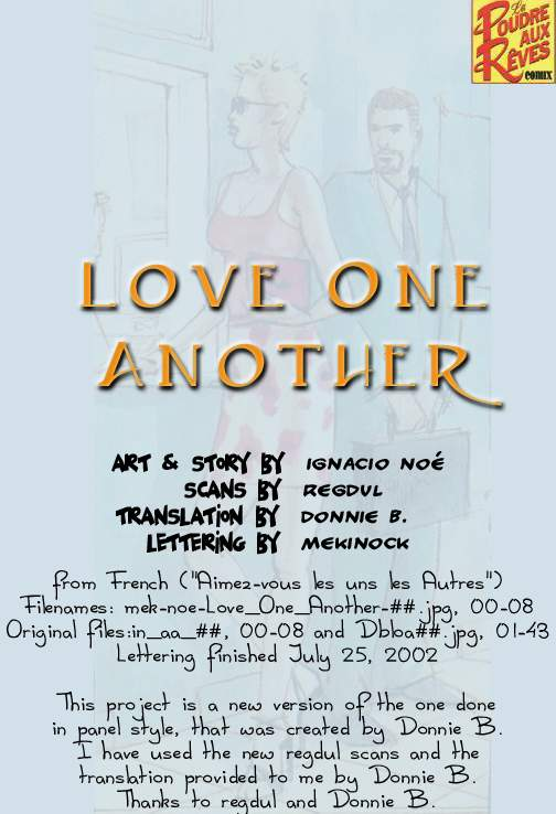 [Ignacio Noe] Love One Another [English] {Donnie B.}